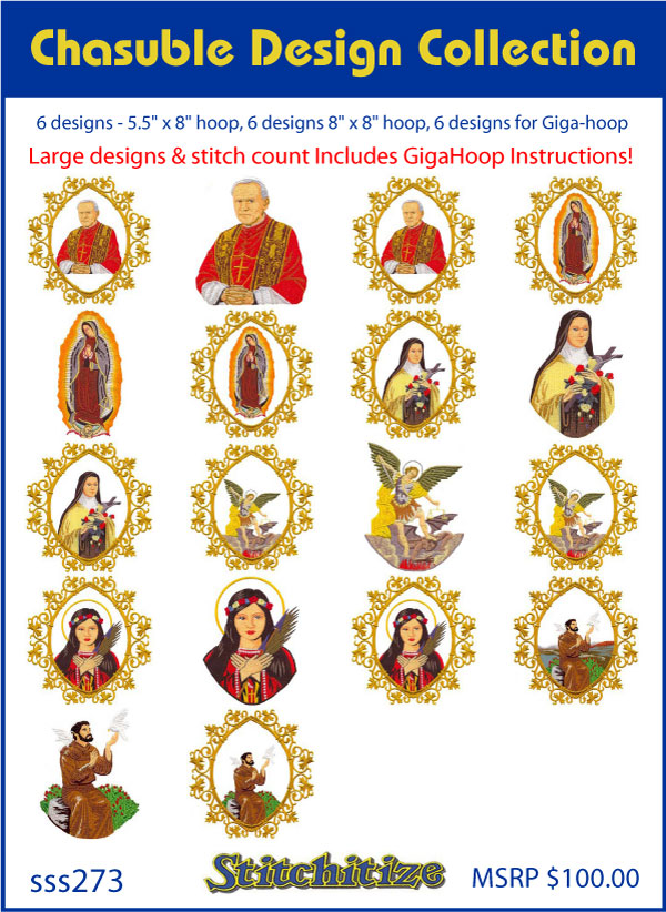 Custom Embroidery Designs By Stitchitize Chasuble Design Collection