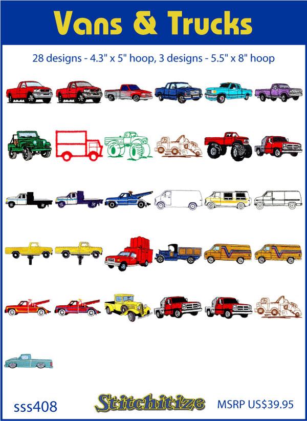 db51ac084a7ac4 Vans   Trucks Custom Embroidery Designs By Stitchitize