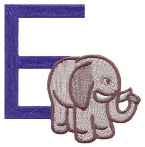 Children's Alphabet  Letter E - Elephant (Small)
