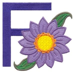 Children's Alphabet  Letter F- Flower (Large)