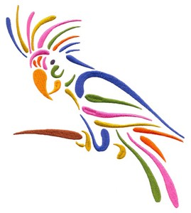Stylized Parrot (Square Hoop)
