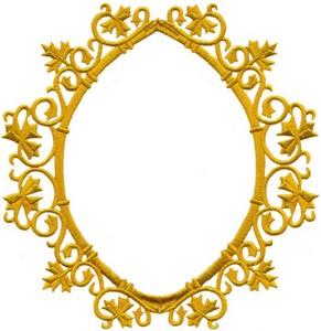 Ornate Maple Leaf Frame (Large)