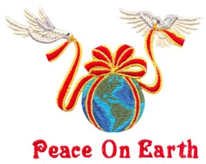 Peace on Earth Globe and Doves