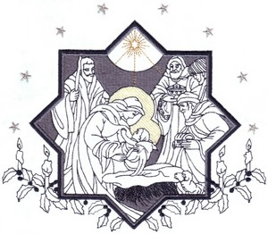 Nativity Scene ( Large Hoop )