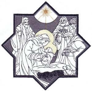 Nativity Scene ( Large Hoop )