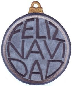 FSL - Applique Globe Ornament # 15 ( Freestanding )