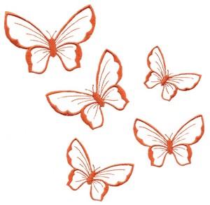 Five Floating Butterflys (Square Hoop)