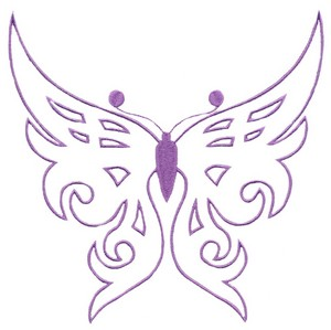 Butterfly Outline (Square Hoop)