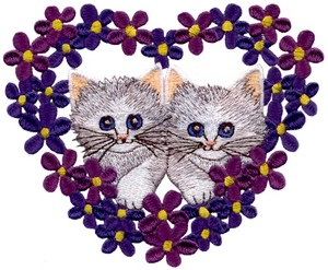 Heart Frame Kittens