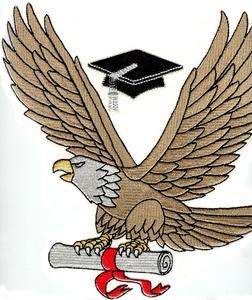Eagle with Diploma