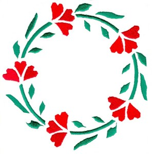 Heart Flower Wreath - larger (Square Hoop)