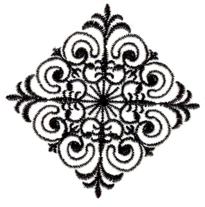 Diamond wrought iron design
