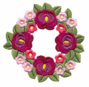 Hollyhock & Petunia Wreath