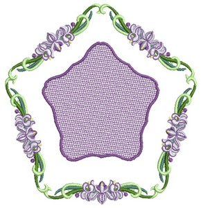 Large Orchid (Square Hoop)