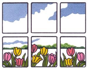 Tulip Window Scene (Square Hoop)
