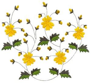 Flower Vine (Square Hoop)