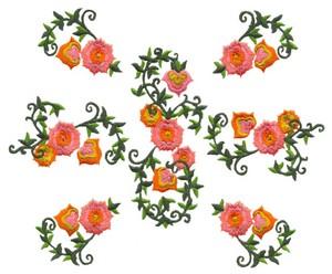 Floral Centerpiece (Square Hoop)
