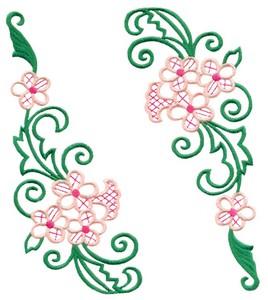 Swinging Floral Swags (Square Hoop)