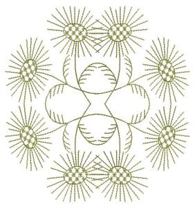 Spiked Flowers (Square Hoop)