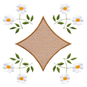 Floral Placement (Square Hoop)