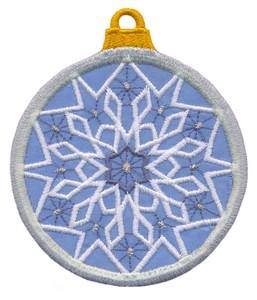 FSL - Applique Globe Ornament #2 (freestanding)
