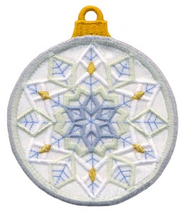 FSL - Applique Globe Ornament #3 (freestanding)