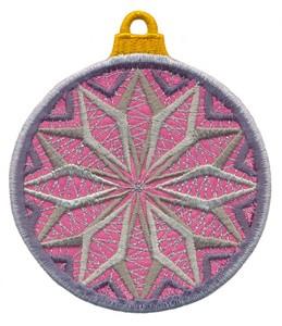FSL - Applique Globe Ornament #5 (freestanding)