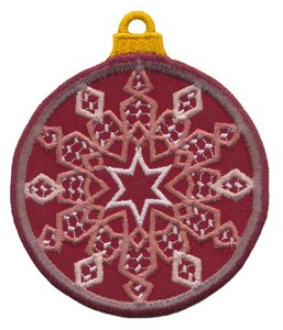 FSL - Applique Globe Ornament #6 (freestanding)
