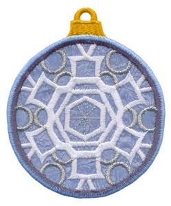 FSL - Applique Globe Ornament #8 (freestanding)