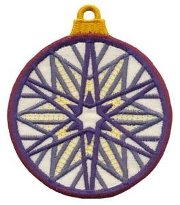 FSL - Applique Globe Ornament #9 (freestanding)
