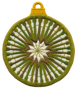 FSL - Applique Globe Ornament #10 (freestanding)