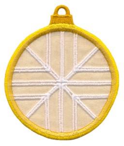 FSL - Applique Globe Ornament #12 (freestanding)