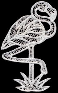 FSL - Italian Lace Flamingo (freestanding)