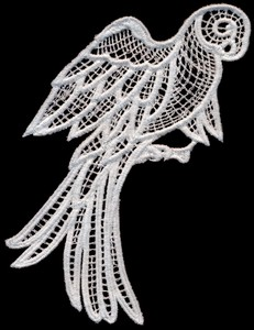 FSL - Italian Lace Parrot with Open Wings (freestanding)