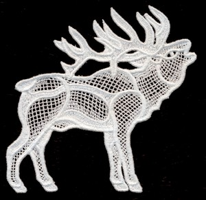 FSL - Italian Lace Elk Bugling (freestanding)
