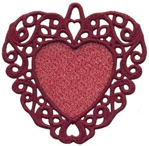FSL - Swirl Bordered Heart Ornament (freestanding)