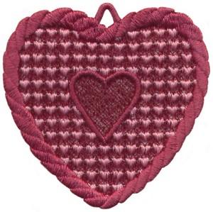 FSL - Rope Bordered Heart Ornament (freestanding)