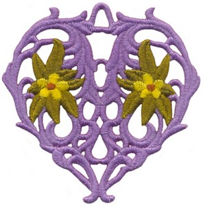 FSL - Floral Vine Heart Ornament (freestanding)