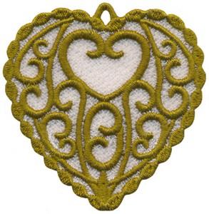 FSL - Swirl Heart Ornament (freestanding)