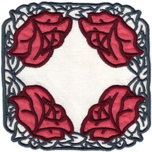 FSL - Old Country Rose Doilie (Freestanding double applique)
