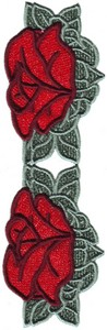 FSL - Old Country Rose Border ( two flower - freestanding)