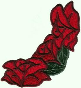 Old Country Rose Corner ( three flower)