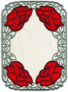 FSL - Old Country Rose Rectangle Doilie (freestanding double applique)