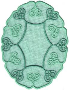FSL - Lacy Hearts Oval Doilie (Freestanding)