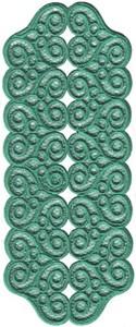 FSL - Lacy Hearts Rectangle Doilie (Freestanding)