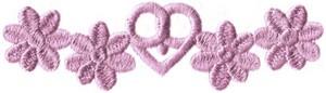 Daisy Hearts Border (1 heart)