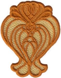 FSL - Chain Link Hearts Lace Design
