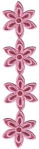 FSL - Pinkpetal 4 Flowers Lace Chain Border (Freestanding)