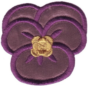 Applique Single Pansy