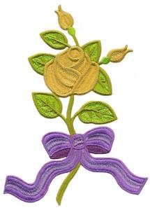 Single Stem Rose & Ribbon